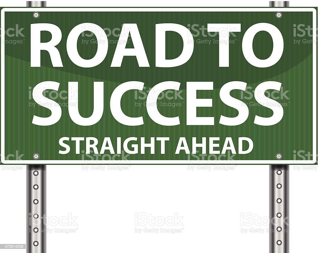 Highway Sign   Road To Success royalty-free stock vector art