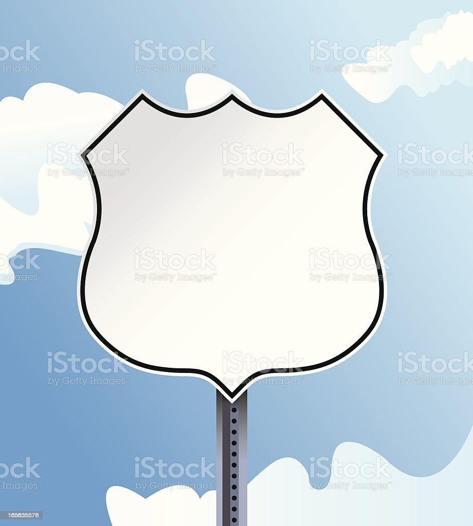 Highway Sign vector art illustration