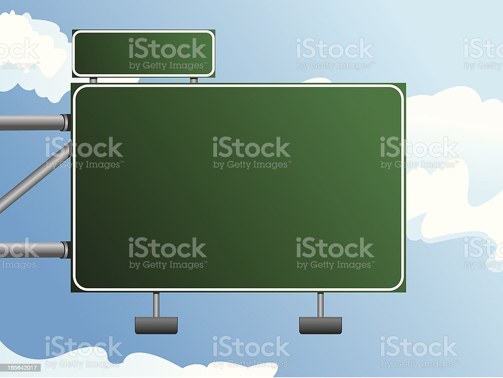 Highway Sign royalty-free highway sign stock vector art & more images of city street
