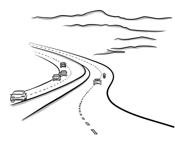 ilustrações de stock, clip art, desenhos animados e ícones de highways to no where - exhaust white background