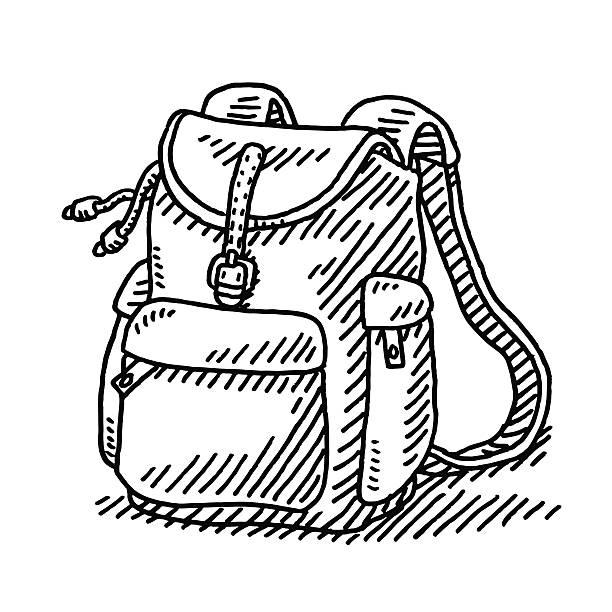 Bекторная иллюстрация Hiking Рюкзак Чертеж