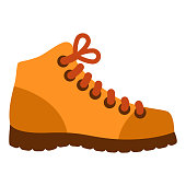 istock Hiking Boot Icon on Transparent Background 1282050817