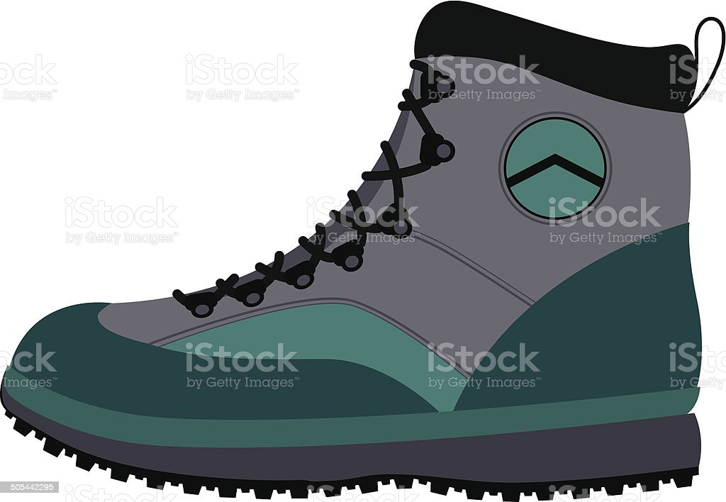 Hiking boot royalty-free stock vector art