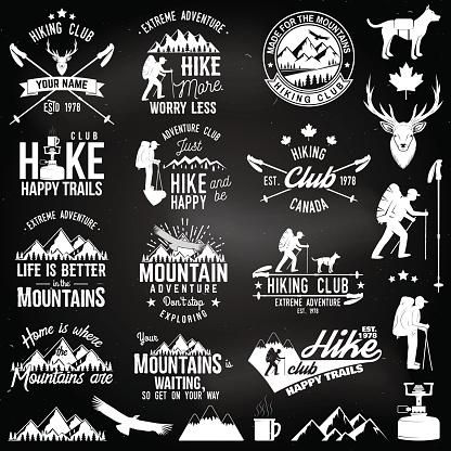 Hiking club badge