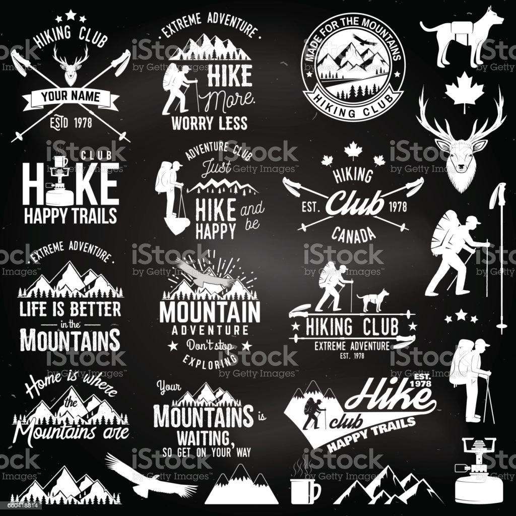 Badge de club de randonnée - Illustration vectorielle