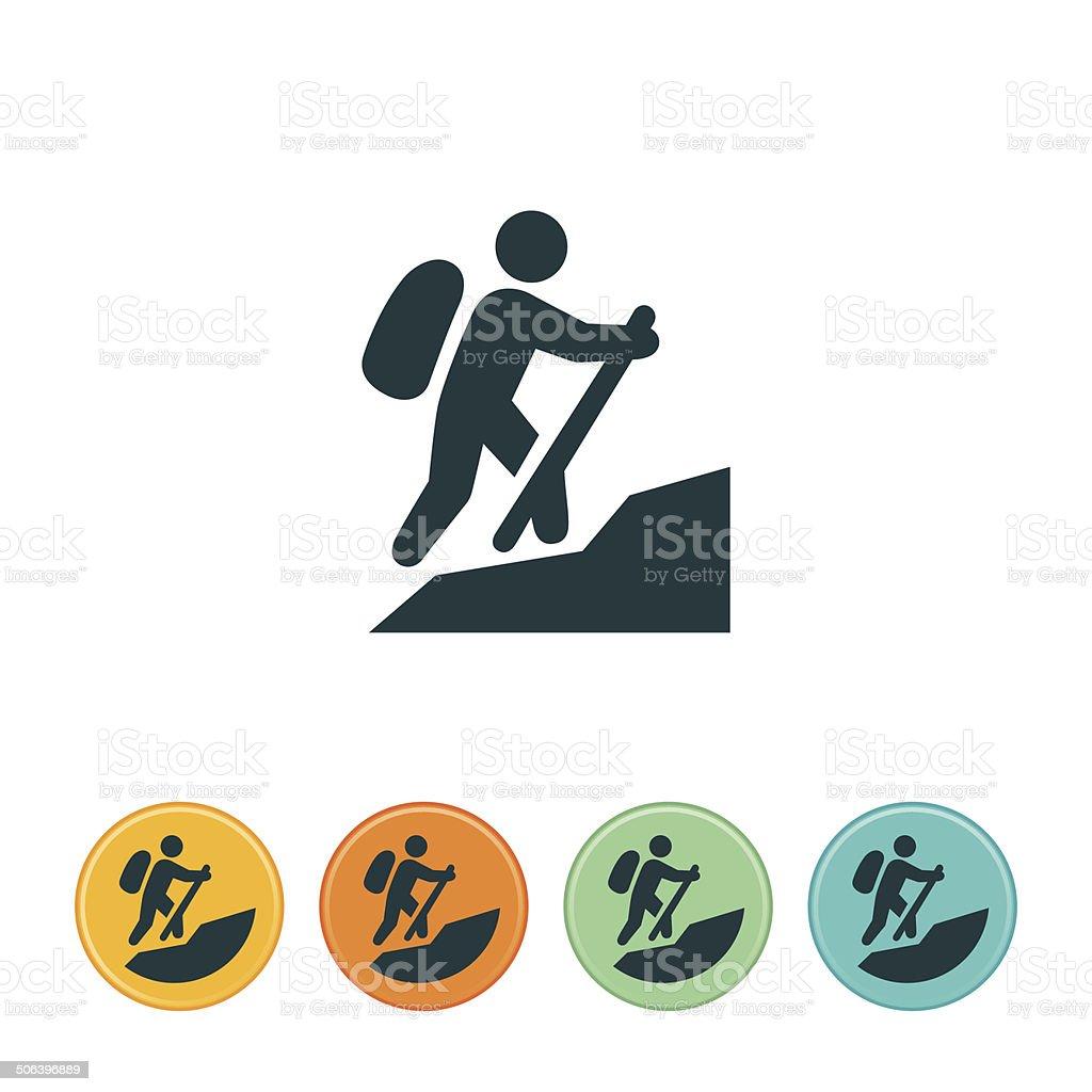 Hiking Icon vector art illustration
