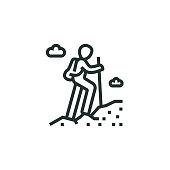 istock Hiking Line Icon 1306003901