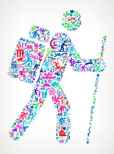 男アクティブなライフ スタイルのアイコン パターン ベクトルをハイキング - ロッククライミング点のイラスト素材/クリップアート素材/マンガ素材/アイコン素材