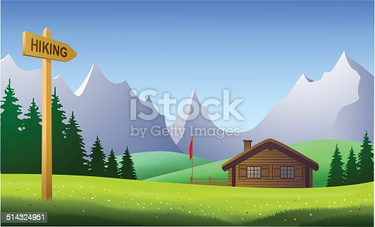 istock Hiking, mountain landscape on a beautiful day in the summertime 514324951