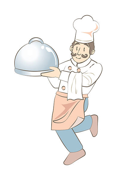 ilustraciones, imágenes clip art, dibujos animados e iconos de stock de cocinero divertido - busy restaurant kitchen