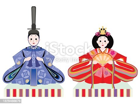 istock Hina doll of a male and a female of the Doll's Festival. 1329466676