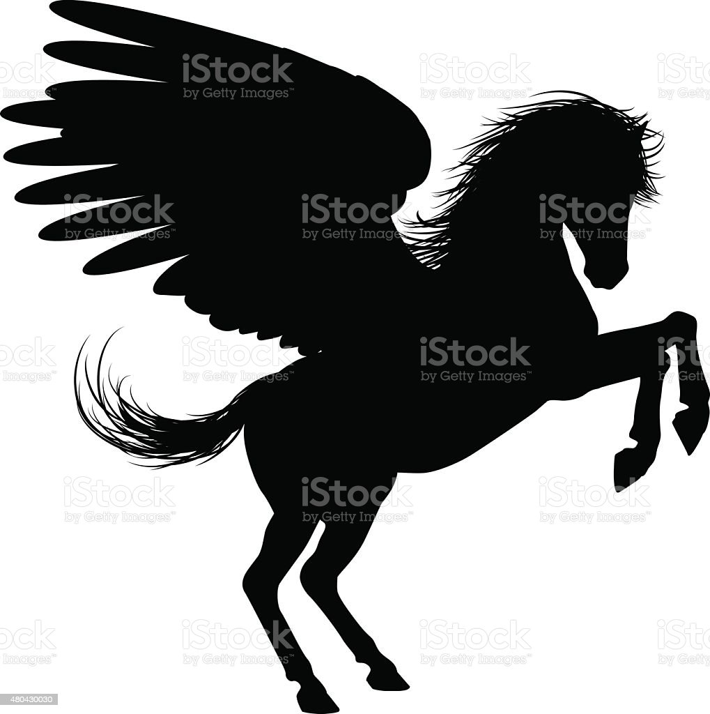 royalty free pegasus unicorn stallion clip art vector images rh istockphoto com pegasus wings clipart pegasus clipart vector