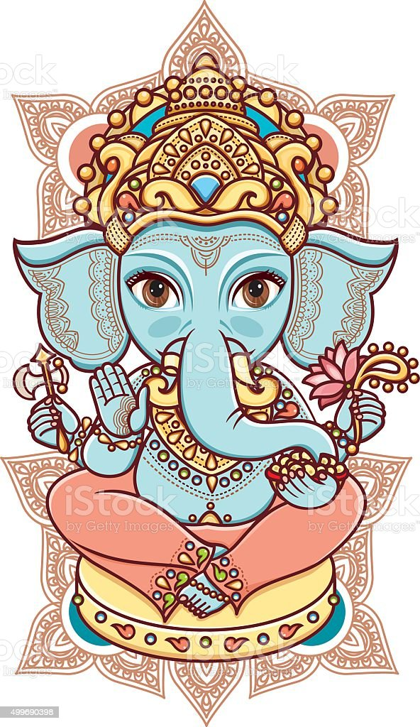 Hindu elephant God Lord Ganesh.