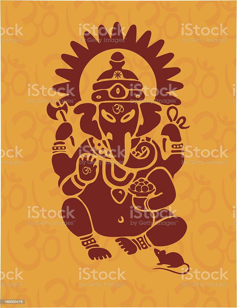 Hindu Ganesh with Om