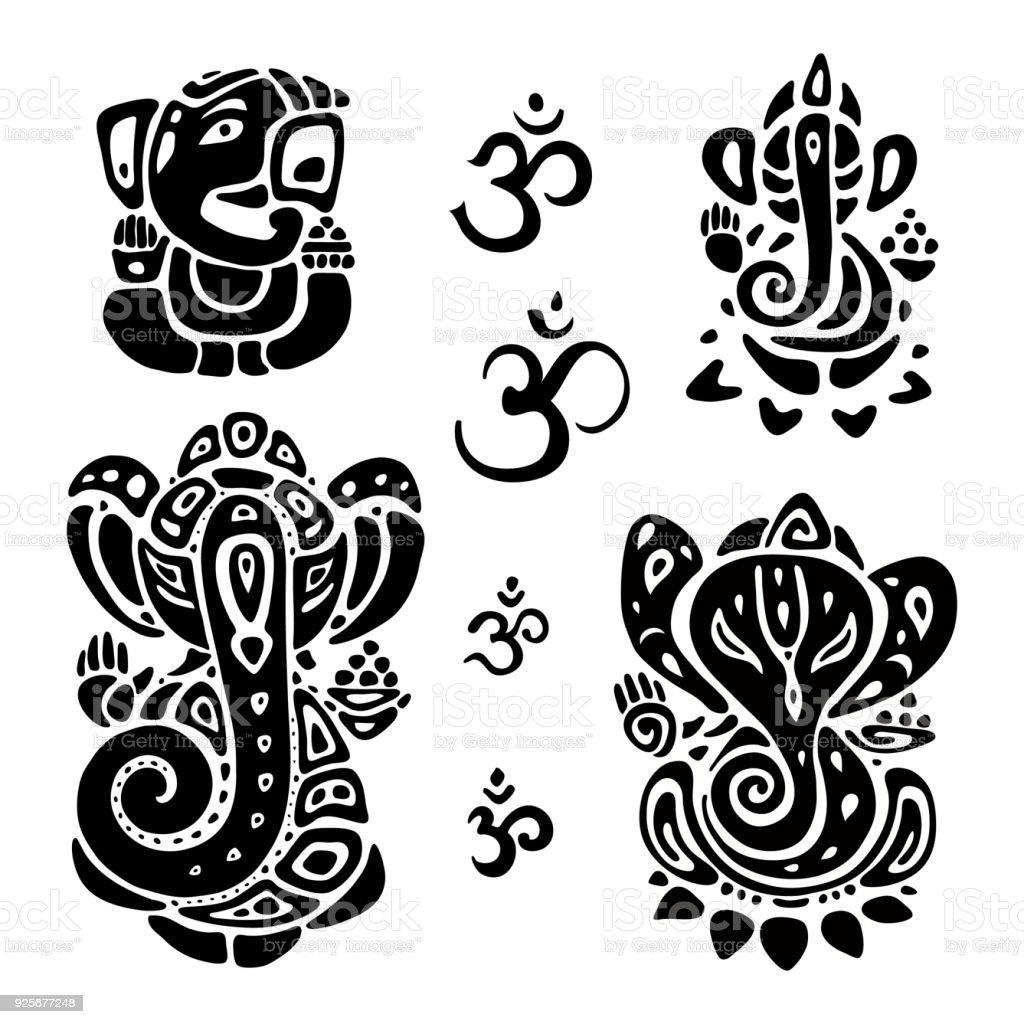 Hindu God Ganesha. Ganapati