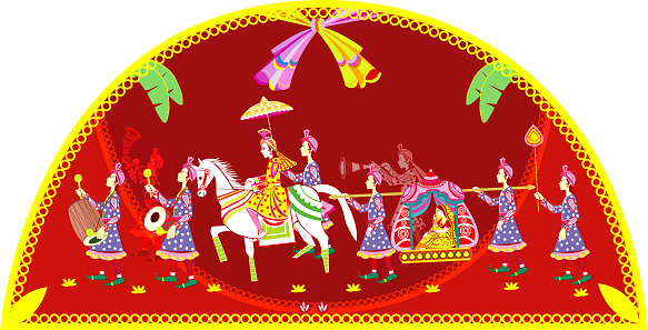 Hindu Wedding Invitation  Card,