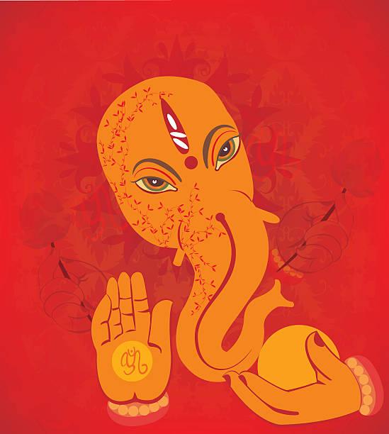 hindu wedding invitation  card - ganesh stock-grafiken, -clipart, -cartoons und -symbole