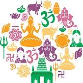 Hinduism Icon Set