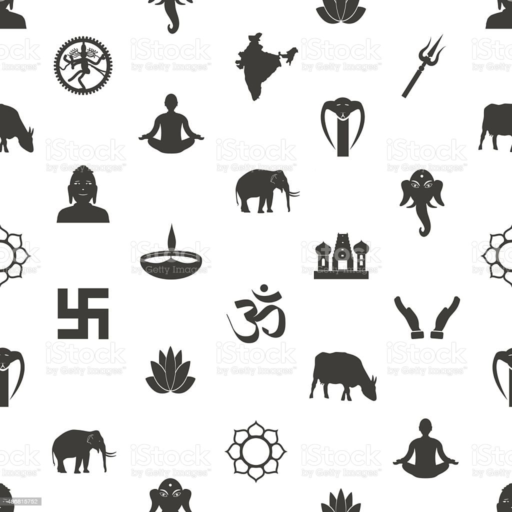 Symbols of indian religions choice image symbol and sign ideas hinduism religions symbols gray seamless pattern eps10 stock hinduism religions symbols gray seamless pattern eps10 royalty buycottarizona