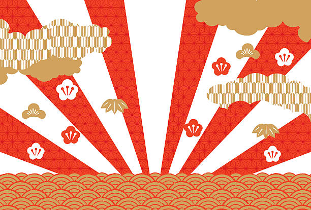 hinomaru's illustration illustration - new year stock illustrations