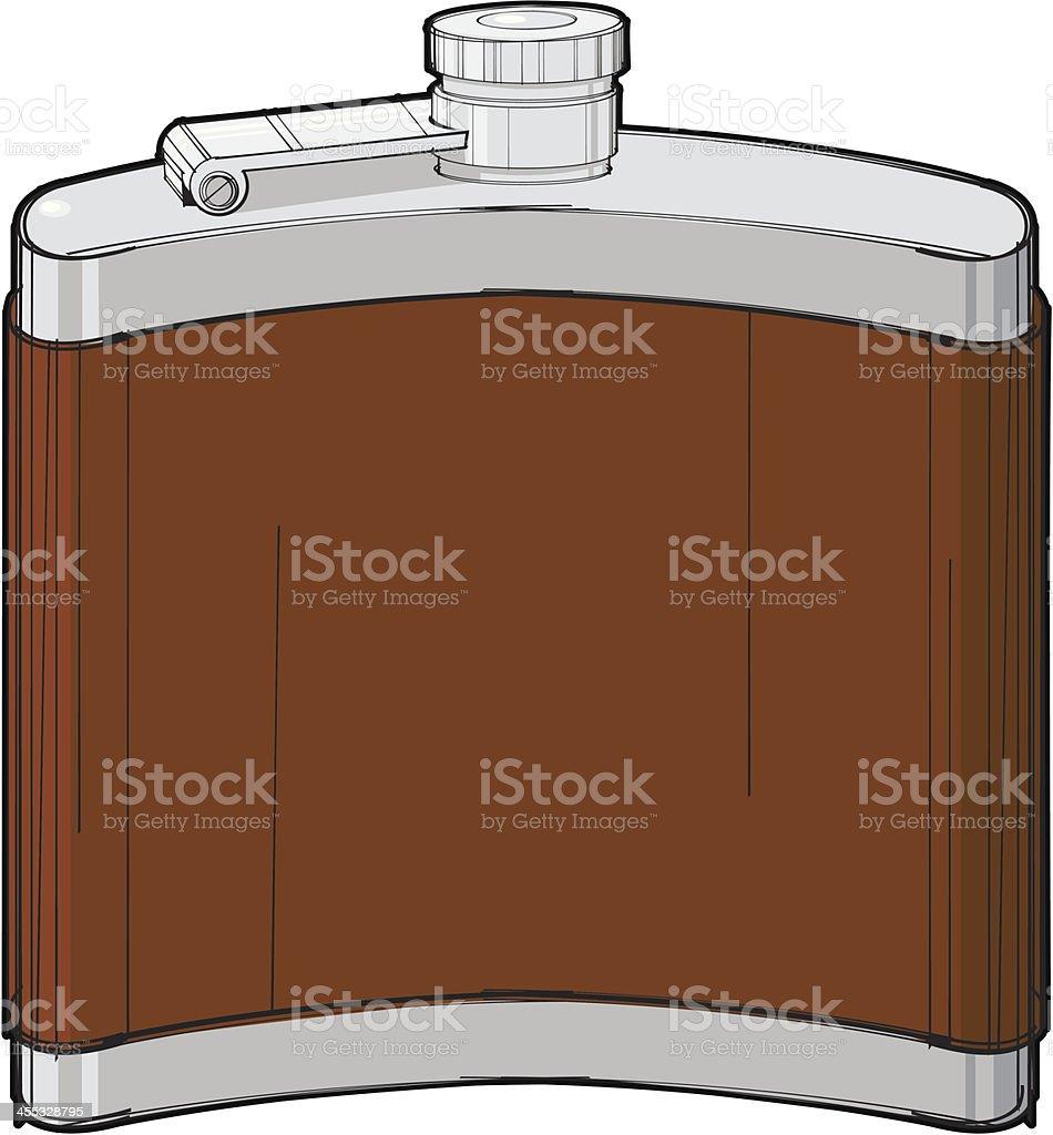 Hip Flask vector art illustration