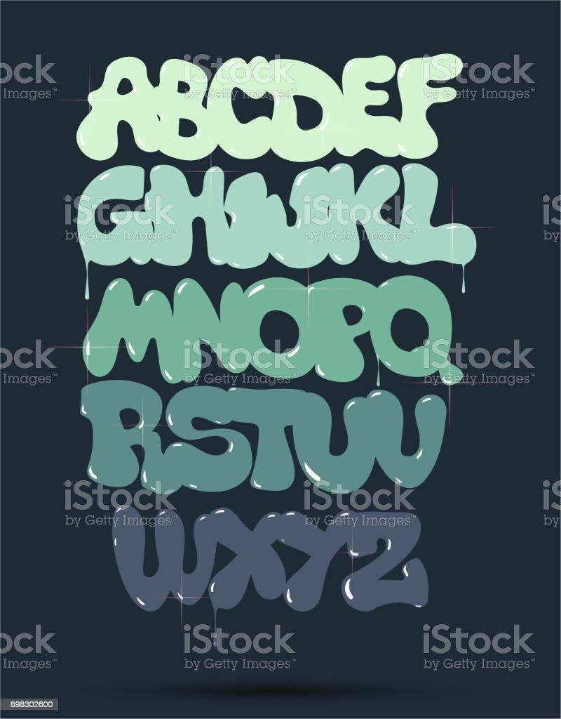 Bubble Graffiti Font