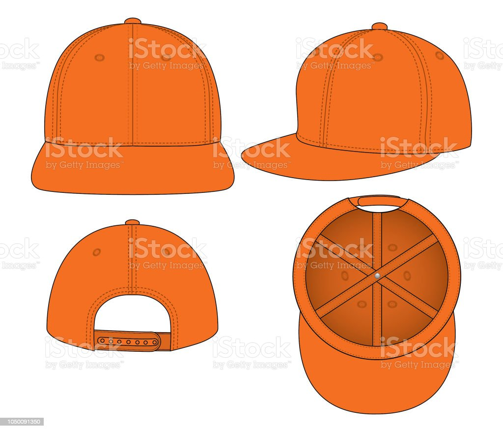 hip hop cap for template stock vector art more images of art