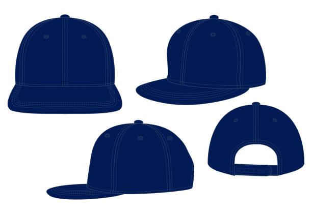 ilustrações de stock, clip art, desenhos animados e ícones de hip hop cap for template - modelos