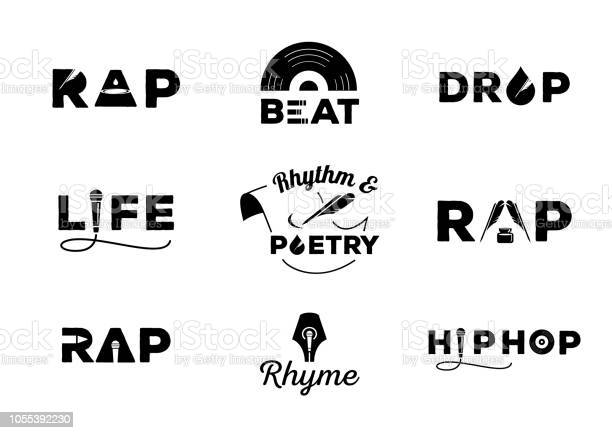 Hip Hop Element With Word Design Stock Illustration - Download Image Now
