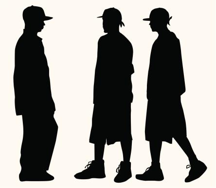Hip Hop Fashion Teens ( Vector )