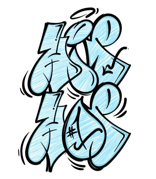 bildbanksillustrationer, clip art samt tecknat material och ikoner med hip hop graffiti skrift - hip hop poster