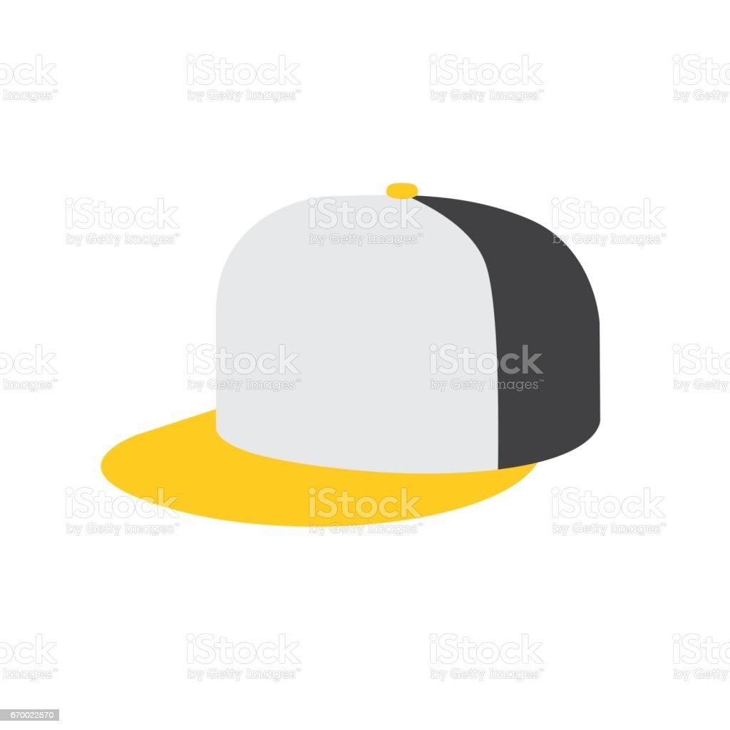 hip hop or rapper baseball cap vector art illustration