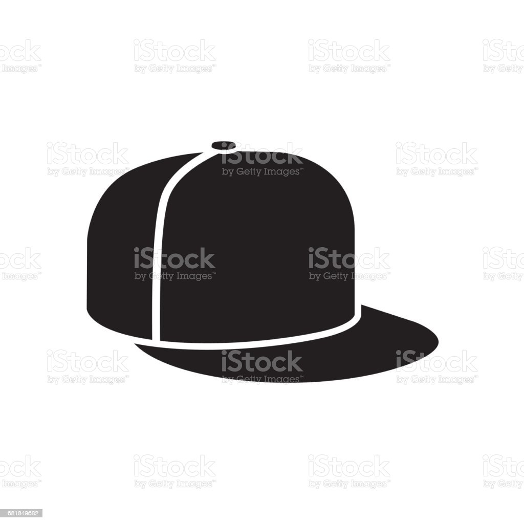 hip hop or rapper baseball cap vector art illustration