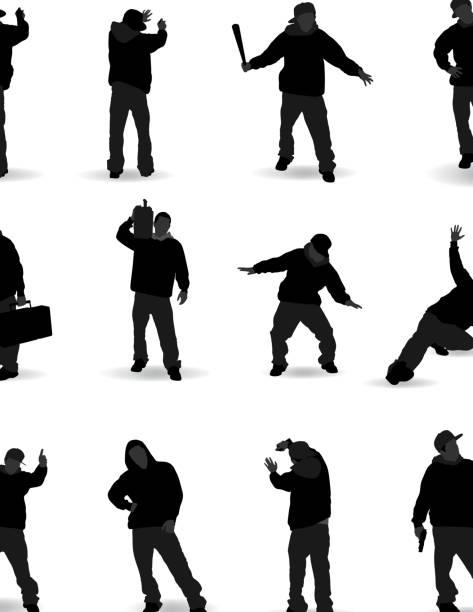 hip-hop, rap gang - kindersprüche stock-grafiken, -clipart, -cartoons und -symbole