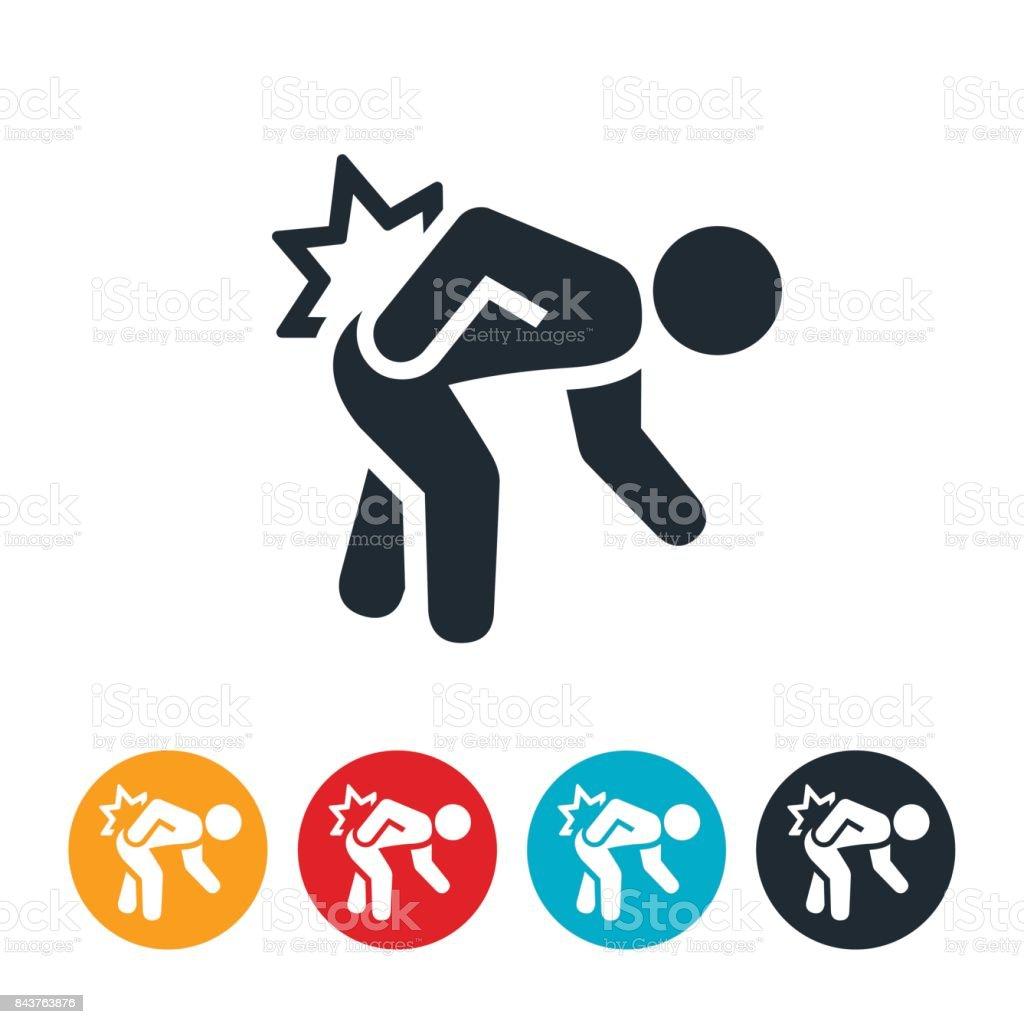 Hip Pain Icon vector art illustration