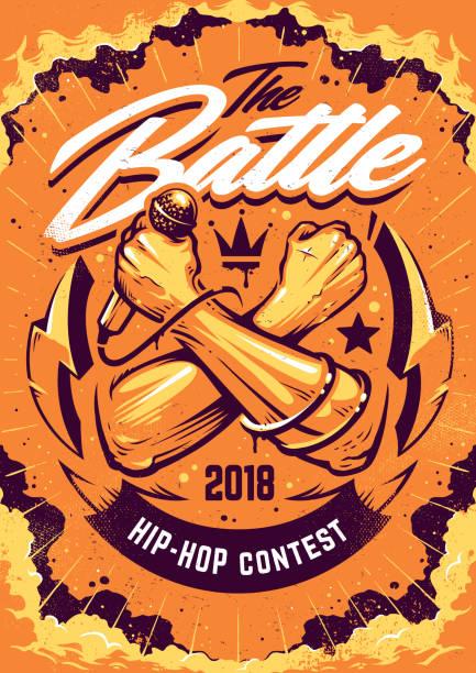 illustrations, cliparts, dessins animés et icônes de conception d'affiche battle hip-hop - hip hop