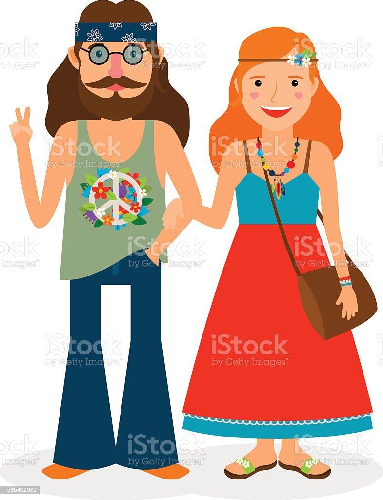 royalty free hippie clip art vector images illustrations istock rh istockphoto com hippie clipart hippie clipart