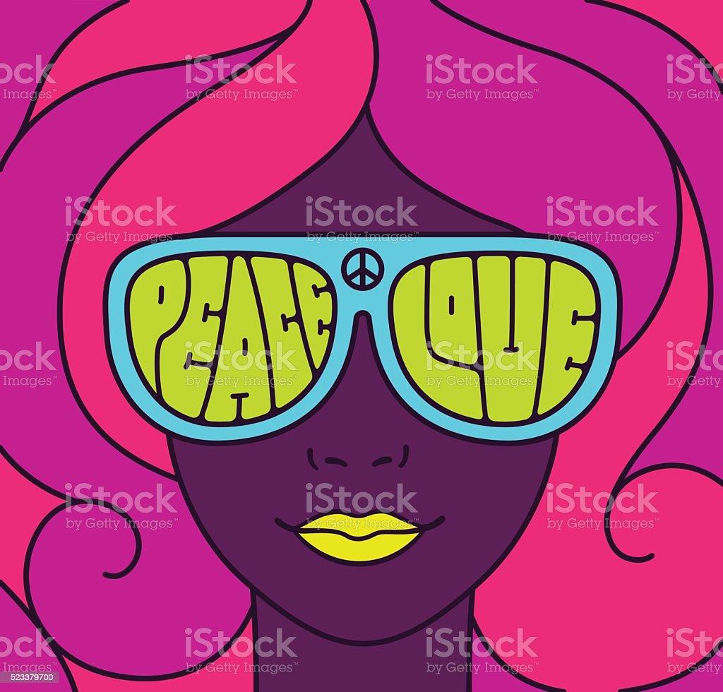 Hippie Love Peace Illustration - Royalty-free 1960-1969 vectorkunst