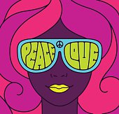 Hippie Love Peace Illustration