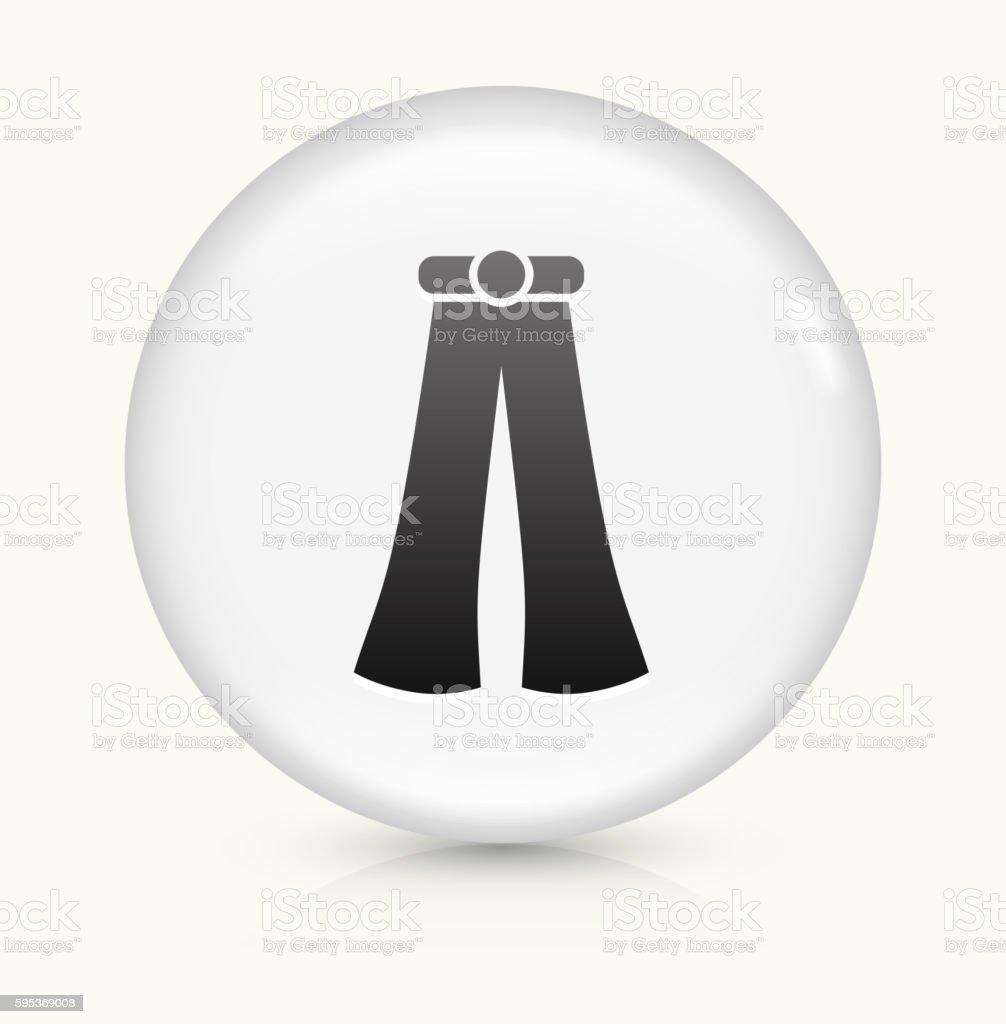 Hippie Pants icon on white round vector button vector art illustration
