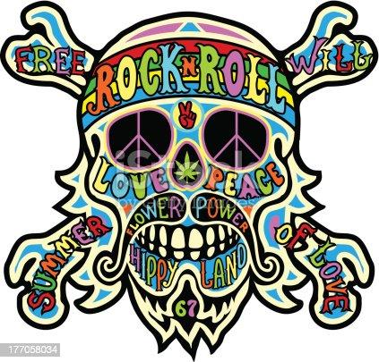 istock hippie skull 177058034