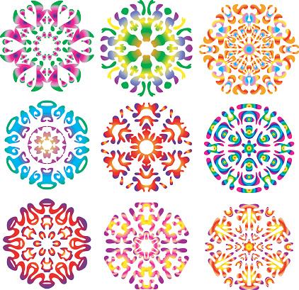 Hippie Tie-dye Snowflakes