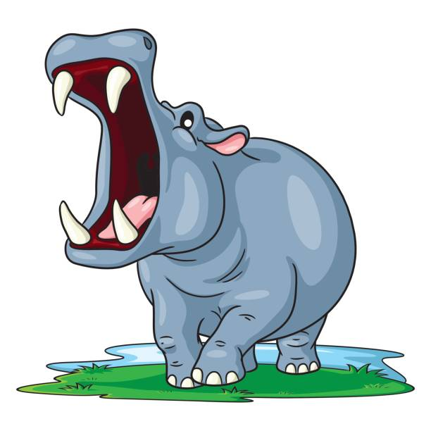 Hippo Art Images: Royalty Free Hippo Clip Art, Vector Images & Illustrations