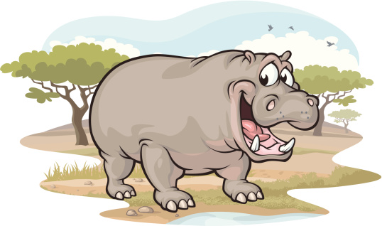 Hippo on the Savannah