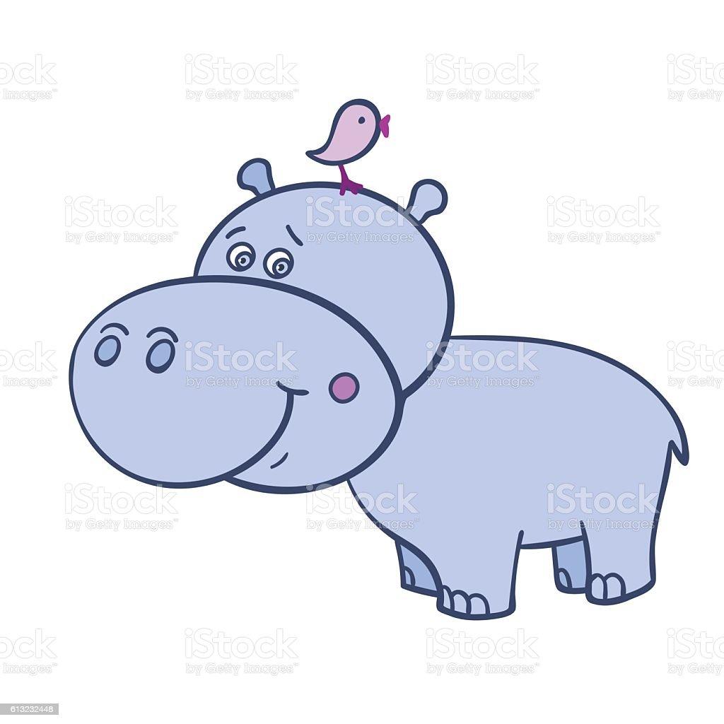 royalty free baby hippo clip art vector images illustrations istock rh istockphoto com Baby Elephant Clip Art Baby Orangutan
