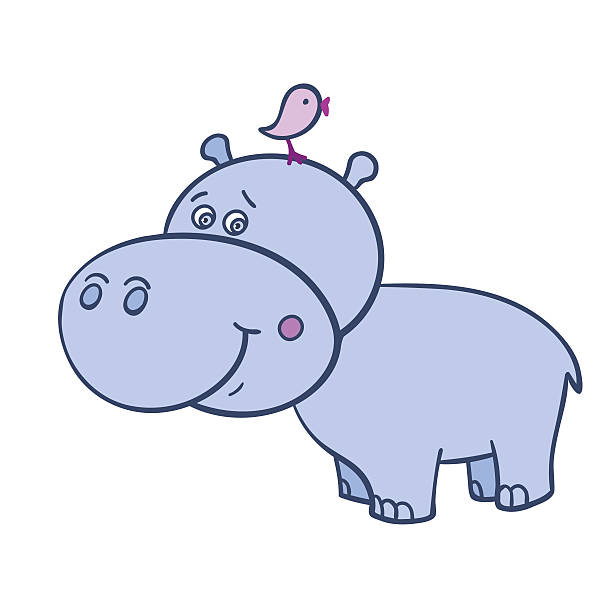 Hippo Art Images: Royalty Free Hippopotamus Clip Art, Vector Images