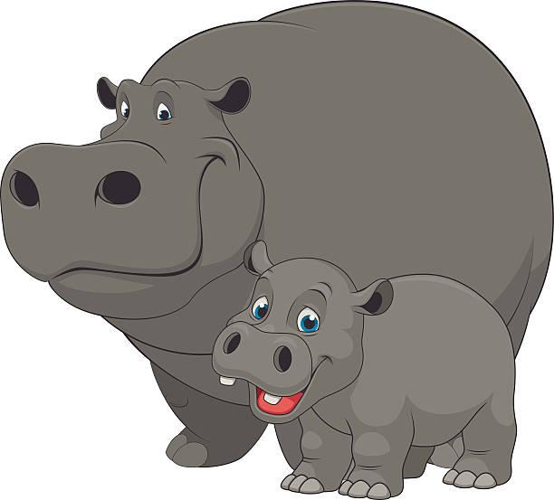 Hippopotamus Clip Art, Vector Images & Illustrations - iStock