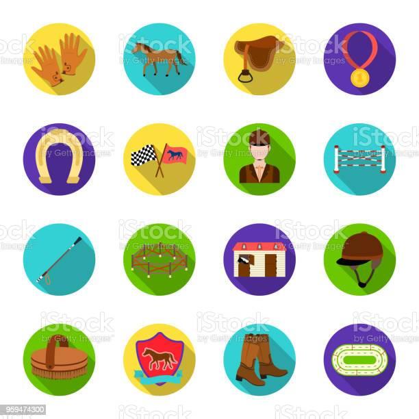 Hippodrome and horse flat icons in set collection for design horse vector id959474300?b=1&k=6&m=959474300&s=612x612&h=0zvwm2ktizkglbni9txqzu0zxtgbuucizynuyg0d ua=