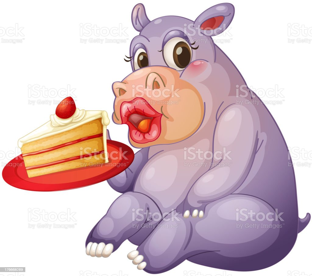 hippopotamus and pastry royalty-free hippopotamus and pastry stock vector art & more images of animal