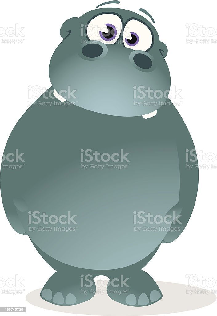 Hippopotamus Cartoon vector art illustration